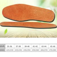 1 paire de semelles en cuir respirant femmes hommes ultra mince chaussures dé ~~