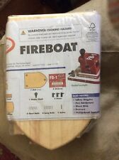 NEW HOME DEPOT KIDS WORKSHOP FIRE BOAT KIT LOWES BUILD AND GROW WOODEN PROJECT