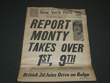 1945 JAN 5 NEW YORK POST NEWSPAPER - REPORT MONTY TAKES OVER 1ST 9TH - NP 2028