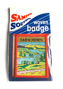 Tarn Hows Lake District Woven Badge / Patch - Sampson Souvenirs - New Old Stock