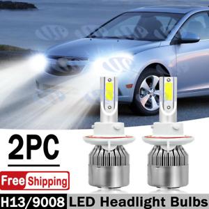 2x H13 6000K White LED Headlight Bulbs High/Low Beam for Chevy Cruze 2011-2016