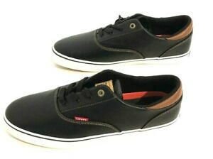 Levis Strauss & Co Low Top Black  Comfort Insole Sneakers Shoes Men's Size 13