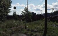 CSS&SB Railroad Train Shops Yard MICHIGAN CITY IN Original 1976 Photo Slide