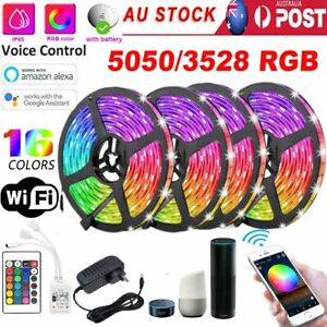 5M 10M 20M LED Strip Lights 5050 3528 RGB Wifi Smart Controller Party Lighting