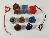 Lot of 5 Beyblades Metal 3 Launchers and 2 Ripcords 2010 Hasbro Tomy with Wear