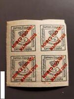 Spanish Morocco , Block of 4 stamps (Overprint) EDIFIL 1, MNH (1903-1909)  (IV)