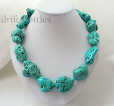 Chunk 21'' 20MMX35MM Turquoise Necklace