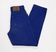 Ink basic jeans donna W26 tg 40 carota affusolato blu usato boyfriend T2766