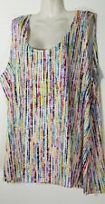 Slinky Brand Womens Multi Colored Sleeveless Tank Top 3X 26 28 Plus Size New NWT
