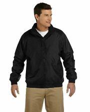 New Harriton Men's Jacket Fleece-Lined Nylon M740 Black Size Small      ST2