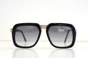 Cazal LEGENDS 616 Black Gold Rhinestone Sunglasses Limited Edition Free Shipping