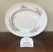 """Royal Doulton BELL HEATHER SCALLOPED 17"""" Oval Serving Platter (B)"""