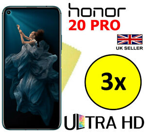 3x ULTRA HD CLEAR SCREEN PROTECTOR COVER FILM GUARD FOR HUAWEI HONOR 20 PRO