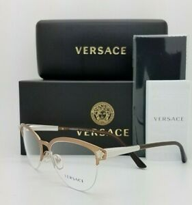 NEW Versace RX Frame Glasses VE1235 1375 53mm Bronze Copper AUTHENTIC rimless