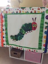 beautiful childs  handmade 100% cotton hungry catepillar patchwork throw