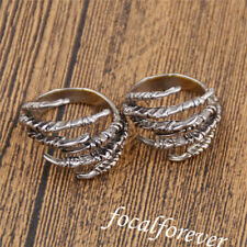 2X Eagle's Claws Dreadlock Beads Cuff Clips Silver Chic Cool Decor For Hair