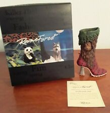 2001 Just the Right Shoe by Raine Northwoods Owl w/Coa