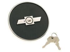 New! 1967-1968 Camaro Gas Cap Fuel Cap locking style with keys bowtie Logo