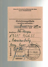 1940 Koln Germany to Oranienburg Concentration Camp money order Receipt KZ