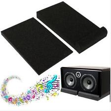 """Black Isolator Sponge Pads for 5"""" Monitors Foam Speaker Isolation Studio H"""