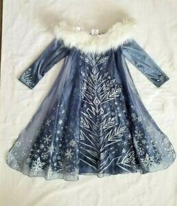 Disney Store Elsa Deluxe Costume Dress Olaf's Frozen Adventure Size 5/6 Cosplay