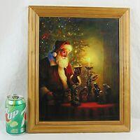 Framed Spirit of Christmas Art Print Greg Olsen 16 x 13 Nativity Santa