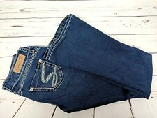 Women's Seven 29W Tulip Dark Wash Embroidered Flare Blue Jeans
