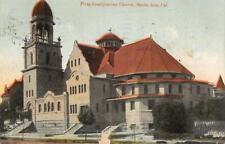 Presbyterian Church Santa Ana Montross Metal Shingles Roofing Ad 1915 Postcard