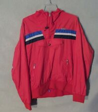 Descente Jacket Coat Red & Blue 1/2 Zip Men's MediumM Inv#Z8948