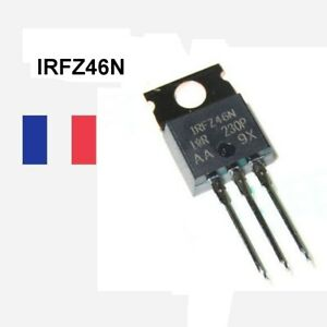 IRFZ46N IRFZ46 Power MOSFET TO-220 Transistor N-MOSFET unipolaire 55V 46A 88W