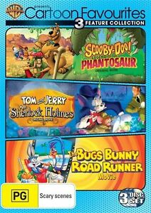 SCOOBY DOO-TOM and JERRY-BUGS BUNNY DVD (PAL, 2013, 3-Disc Set) Free Post