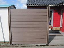 10x WPC Sichtschutzzaun Gartenzaun Terrassenzaun Dichtzaun Sichtschutz Holz Zaun