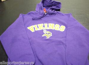 NFL Minnesota Vikings Applique Purple Hooded Sweatshirt size Medium VF Imagewear
