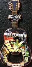 Hard Rock Cafe HOLLYWOOD 2010 Guitar MAGNET Bottle Opener V8 City Icons Mint New