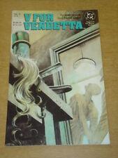 V FOR VENDETTA #6 DC COMICS ALAN MOORE DAVID LLOYD DECEMBER 1988 X