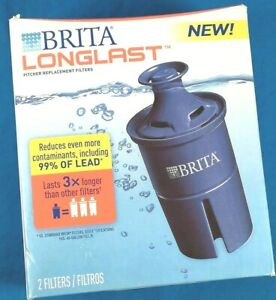 3 Pack - BRITA Longlast Pitcher Filter, Reduces Even More Contaminants!