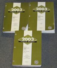 2003 Chevrolet Express GMC Savana Van Service Manual Set