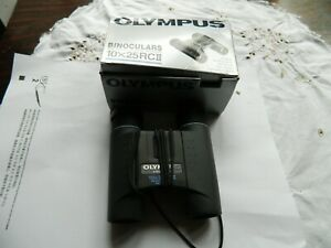 Pair Olympus 10 x 25 RC11B Compact Binoculars with Case in Box
