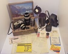 VINTAGE NIKKOREX F 409381 CAMERA W/ CASES, ACCESSORIES & INSTRUCTIONS NICE!!!!
