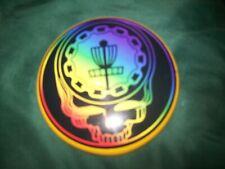 "Grateful Dead 4"" mini disc golf : psychedelic rainbow, most popular design!"