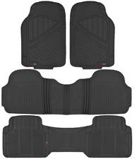 MOTOR TREND Max-Duty Van Truck 3 ROW Floor Mats Odorless Black All Weather 4-PC