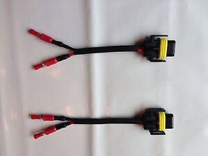 H11 H9 H8 Bulb Socket Connector x 2 SPOT LIGHT/FOG LIGHT, CHEAPEST ON EBAY