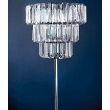 Florence 3 Tier Chandelier Crystal Effect Standing Floor Lamp 160cm