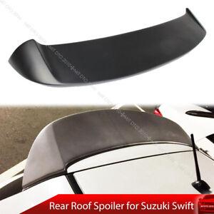 Unpainted Rear Roof Spoiler Fit For Suzuki Swift 3rd AZG 11-17 5D Spoon Type