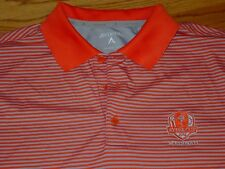 Mens Antigua L 2012 Ryder Cup Medinah Country Club Golf Shirt Polo Orange Large
