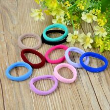 10Pcs Sports Yoga Elestic Cotton Fabric Hair Bands Headband Candy Color