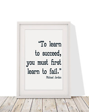 Michael Jordan Quote To Learn To Succeed,You Must Fail Framed With Mount 12x10