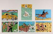 Carte postale Tintin Carte Q8, Assortiment de 6 cartes Tintin