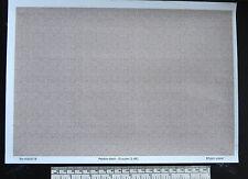 O gauge (1:48 scale) pebble-dash -  paper - A4 sheet