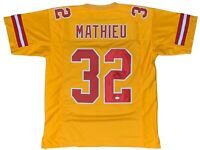 Tyrann Mathieu autographed signed jersey NFL Kansas City Chiefs JSA COA